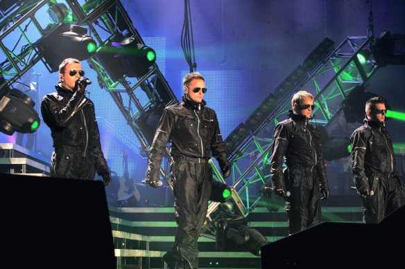 manchester evening news 15/03/08 westlife men arena pic by Simon Pendrigh