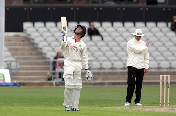 LANCASHIRE COUNTY CRICKET CLUB Emirates Old Trafford Luis Reece 50