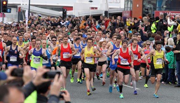 Manchester Marathon 2015  start