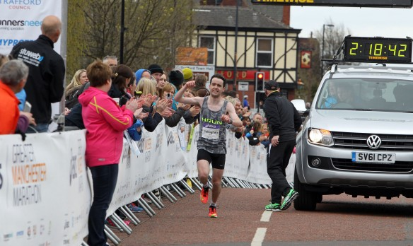 Manchester Marathon 2015  finish mens second