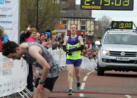 Manchester Marathon 2015  finish mens third