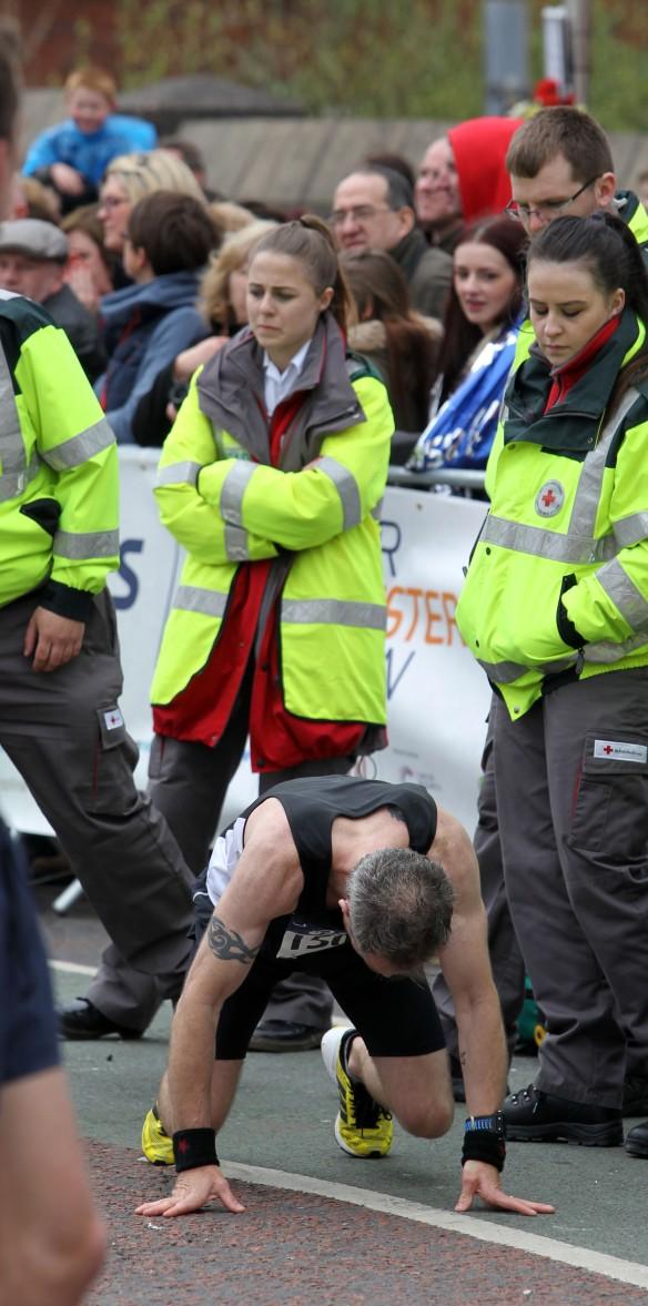 Manchester Marathon 2015  Finish