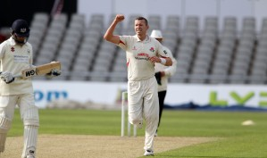 LANCASHIRE COUNTY CRICKET CLUB Emirates Old Trafford LV= County Championship LANCS V GLOUCESTERSHIRE 10/05/15 Day1 Peter Siddall takes the wicket of Smith