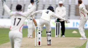 LANCASHIRE COUNTY CRICKET CLUB Emirates Old Trafford LV= County Championship LANCS V GLOUCESTERSHIRE 10/05/15 Day1 Glous Tavare survives an early shout