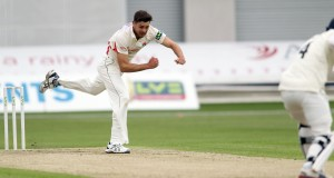LANCASHIRE COUNTY CRICKET CLUB Emirates Old Trafford LV= County Championship LANCS V GLOUCESTERSHIRE 10/05/15 Day1 Nathan Buck bowling