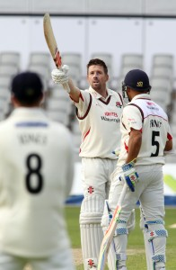 LANCASHIRE COUNTY CRICKET CLUB Emirates Old Trafford LV= County Championship LANCS V GLOUCESTERSHIRE 11/05/15 Day2 Paul Horton century 100