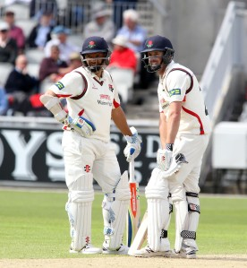 LANCASHIRE COUNTY CRICKET CLUB Emirates Old Trafford LV= County Championship LANCS V GLOUCESTERSHIRE 11/05/15 Day2 Paul Horton and Ashwell Prince