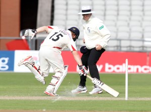 LANCASHIRE COUNTY CRICKET CLUB Emirates Old Trafford LV= County Championship LANCS V GLOUCESTERSHIRE 11/05/15 Day2 Steven Croft batting