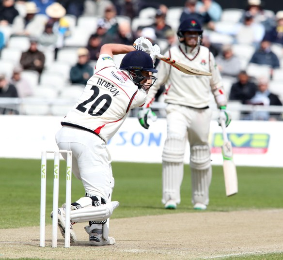 LANCASHIRE COUNTY CRICKET CLUB Emirates Old Trafford LV= County Championship LANCS V GLOUCESTERSHIRE 12/05/15 Day3 Paul Horton on his way to 150