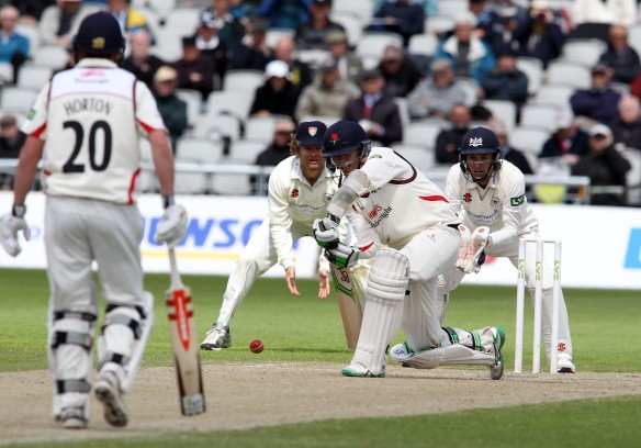 LANCASHIRE COUNTY CRICKET CLUB Emirates Old Trafford LV= County Championship LANCS V GLOUCESTERSHIRE 12/05/15 Day3 Peter Siddle batting