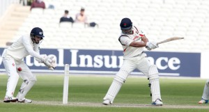 LANCASHIRE COUNTY CRICKET CLUB Emirates Old Trafford LV= County Championship LANCS V GLOUCESTERSHIRE 13/05/15 Day4 Alviro Petersen batting to 63