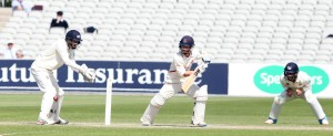 LANCASHIRE COUNTY CRICKET CLUB Emirates Old Trafford LV= County Championship LANCS V GLOUCESTERSHIRE 13/05/15 Day4 Alex Davies batting to 58
