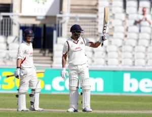 LANCASHIRE COUNTY CRICKET CLUB Emirates Old Trafford LV= County Championship LANCS V GLOUCESTERSHIRE 13/05/15 Day4 Alviro Petersen batting 50