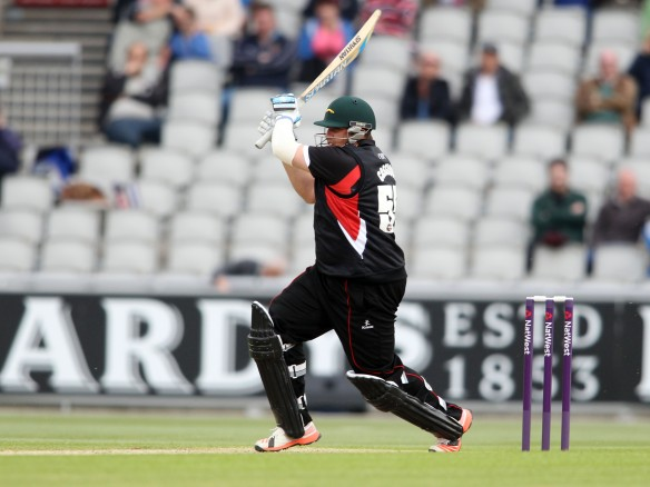 LANCASHIRE COUNTY CRICKET CLUB Emirates Old Trafford NatWest t20 Blast, North Group:  Lancashire Lightning v Leicestershire Foxes 15/05/15 LiecsMJ Cosgrove* c †Davies b Bailey