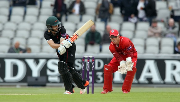 LANCASHIRE COUNTY CRICKET CLUB Emirates Old Trafford NatWest t20 Blast, North Group:  Lancashire Lightning v Leicestershire Foxes 15/05/15 leics ejh eckersley