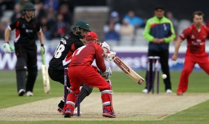 LANCASHIRE COUNTY CRICKET CLUB Emirates Old Trafford NatWest t20 Blast, North Group:  Lancashire Lightning v Leicestershire Foxes 15/05/15 leics GD Elliott