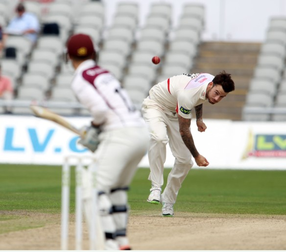 LANCASHIRE COUNTY CRICKET CLUB Emirates Old Trafford Lancashire v Northamptonshire LV= County Championship Division Two, 29/06/15 Jordan Clark