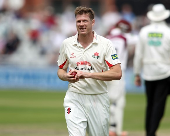 LANCASHIRE COUNTY CRICKET CLUB Emirates Old Trafford Lancashire v Northamptonshire LV= County Championship Division Two, 29/06/15 James Faulkner