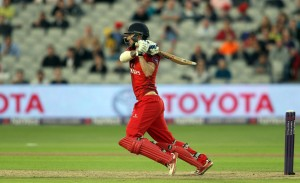 LANCASHIRE COUNTY CRICKET CLUB Emirates Old Trafford Lancashire Lightning v Birmingham Bears Nat West t20 Blast 26/06/15 Jordan Clark batting
