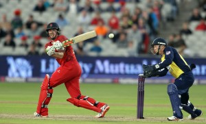 LANCASHIRE COUNTY CRICKET CLUB Emirates Old Trafford Lancashire Lightning v Birmingham Bears Nat West t20 Blast 26/06/15 James Faulkner batting