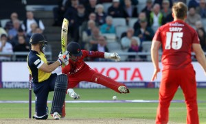 LANCASHIRE COUNTY CRICKET CLUB Emirates Old Trafford Lancashire Lightning v Birmingham Bears Nat West t20 Blast 26/06/15 Alex Davies