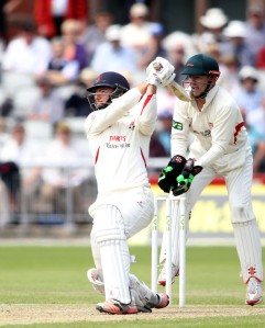 LANCASHIRE COUNTY CRICKET CLUB Emirates Old Trafford Lancashire v Leicestershire LV= County Championship Division Two, 16/06/15 Arron Lilley 50