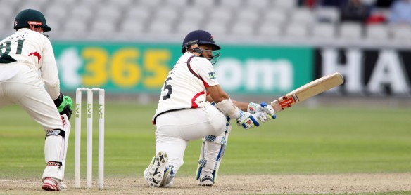 LANCASHIRE COUNTY CRICKET CLUB Emirates Old Trafford Lancashire v Leicestershire LV= County Championship Division Two, 15/06/15 Ashwell Prince 50