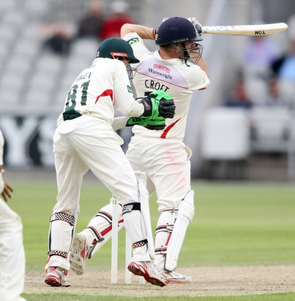 LANCASHIRE COUNTY CRICKET CLUB Emirates Old Trafford Lancashire v Leicestershire LV= County Championship Division Two, 15/06/15 Steven Croft batting