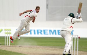 LANCASHIRE COUNTY CRICKET CLUB Emirates Old Trafford Lancashire v Leicestershire LV= County Championship Division Two, 16/06/15 Tom Bailey bowling