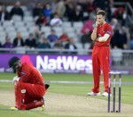 LANCASHIRE COUNTY CRICKET CLUB Emirates Old Trafford Lancashire Lightning v Nottinghamshire Outlaws Nat West t20 Blast 15/07/15 Kyle Jarvis game over