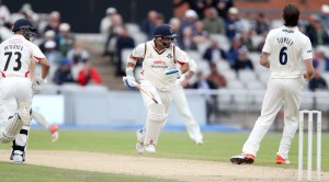 LANCASHIRE COUNTY CRICKET CLUB Emirates Old Trafford Lancashire v Essex LV= County Championship Division Two, 06/07/15 Ashwell Prince and Alviro Petersen