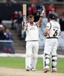 LANCASHIRE COUNTY CRICKET CLUB Emirates Old Trafford Lancashire v Essex LV= County Championship Division Two, 08/07/15 Steven Coft century 100
