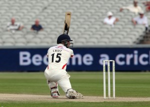 LANCASHIRE COUNTY CRICKET CLUB Emirates Old Trafford Lancs v Northants LV= County Championship Division Two, 01/07/15 steven croft