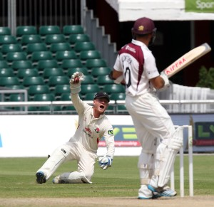 LANCASHIRE COUNTY CRICKET CLUB Emirates Old Trafford Lancs v Northants LV= County Championship Division Two, 01/07/15 coetzeris caught by Alex Davies