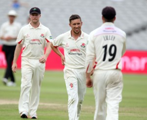 LANCASHIRE COUNTY CRICKET CLUB Emirates Old Trafford Lancs v Northants LV= County Championship Division Two, 01/07/15 Simon KerriganGG White	c Lilley b Kerrigan