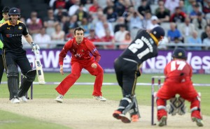 LANCASHIRE COUNTY CRICKET CLUB Emirates Old Trafford Lancashire Lightning v Yorkshire Vikings Nat West t20 Blast 03/07/15 Stephen parry
