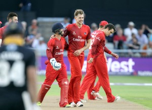 LANCASHIRE COUNTY CRICKET CLUB Emirates Old Trafford Lancashire Lightning v Yorkshire Vikings Nat West t20 Blast 03/07/15 Alex Davies and Tom Bailey