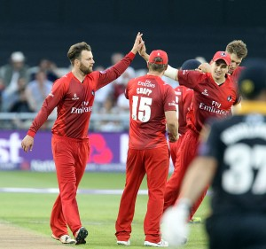 LANCASHIRE COUNTY CRICKET CLUB Emirates Old Trafford Lancashire Lightning v Yorkshire Vikings Nat West t20 Blast 03/07/15 Arron Lilley