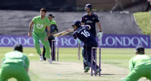 LANCASHIRE COUNTY CRICKET CLUB Blackpool Cricket Club Royal London One-Day Cup Lancashire v Middlesex 29/07/15 Eoin Morgan batting