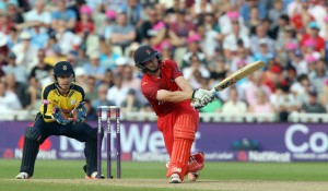 lancs batting Karl Brown Nat West t20 Blast Finals day Edgbaston semi final LANCASHIRE COUNTY CRICKET CLUB v Hampshire 29/08/15