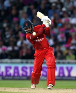 Arron Lilley lancs batting FINAL Nat West t20 Blast Finals day Edgbaston LANCASHIRE COUNTY CRICKET CLUB V  Northants 29/08/15