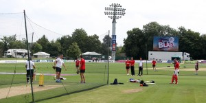 KENT COUNTY CRICKET CLUB t20 blast Quarter final Kent v Lancashire 15/08/15 Lancs in the nets pre match