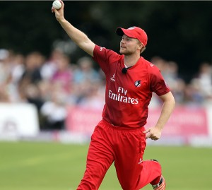KENT COUNTY CRICKET CLUB t20 blast Quarter final Kent v Lancashire 15/08/15 Karl Brown takes his first catch