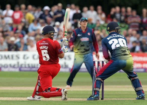 KENT COUNTY CRICKET CLUB t20 blast Quarter final Kent v Lancashire  15/08/15 Ashwell Prince