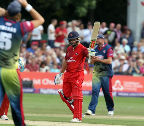 KENT COUNTY CRICKET CLUB t20 blast Quarter final Kent v Lancashire  15/08/15 Ashwell Prince 50