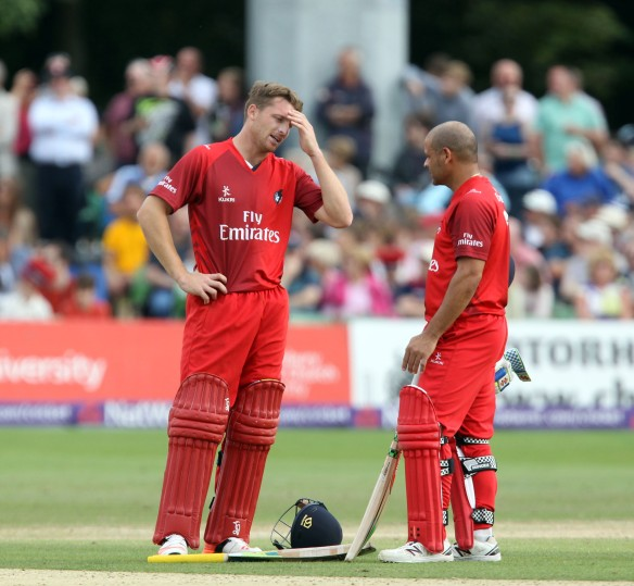 KENT COUNTY CRICKET CLUB t20 blast Quarter final Kent v Lancashire  15/08/15 Jos Buttler and Ashwell Prince