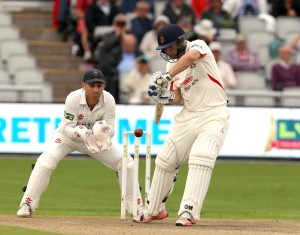 Karl Brown LANCASHIRE COUNTY CRICKET CLUB Emirates Old Trafford LV= County Championship Lancashire v Glamorgan 21/08/15