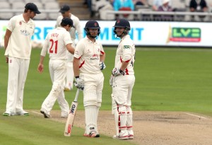 Karl Brown and Steven Croft LANCASHIRE COUNTY CRICKET CLUB Emirates Old Trafford LV= County Championship Lancashire v Glamorgan 22/08/15