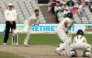 Arron Lilley LANCASHIRE COUNTY CRICKET CLUB Emirates Old Trafford LV= County Championship Lancashire v Glamorgan 22/08/15