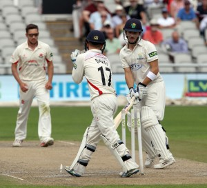 Alex Davies stumps Salter off Simon Kerrigan LANCASHIRE COUNTY CRICKET CLUB Emirates Old Trafford LV= County Championship Lancashire v Glamorgan 22/08/15